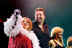 Peter Kay in character as Geraldine McQueen with Singer Song writer Elliot Kennedy for a Christmas Charity Concert at Sheffield City Hall in Aid of Weston Park  Cancer Hospital &amp; Cavendish Cancer Charity   (Peter Kay)<br /> <br /> 17 December 2008  &copy; Paul David Drabble<br /> www.pauldaviddrabble.co.uk