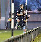 Iain Davidson and Greg Stewart celebrate Davidson's winner for Dundee -  St Mirren v Dundee, SPFL Premiership at St Mirren Park <br /> <br /> <br />  - &copy; David Young - www.davidyoungphoto.co.uk - email: davidyoungphoto@gmail.com