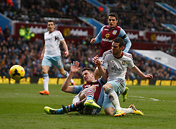 West Ham United's Matthew Jarvis goes close to goal - Photo mandatory by-line: Matt Bunn/JMP - Tel: Mobile: 07966 386802 08/02/2014 - SPORT - FOOTBALL - Birmingham - Villa Park - Aston Villa v West Ham United - Barclays Premier League