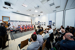 Bogdan Fink during press conference of KK Adria Mobil Cycling Club before new season 2018, on February 22, 2018 in Novo mesto, Slovenia. Photo by Vid Ponikvar / Sportida