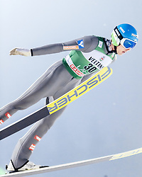 February 8, 2019 - Lahti, Finland - Philipp Aschenwald participates in FIS Ski Jumping World Cup Large Hill Individual training at Lahti Ski Games in Lahti, Finland on 8 February 2019. (Credit Image: © Antti Yrjonen/NurPhoto via ZUMA Press)