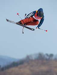 February 18, 2018 - Pyeongchang, South Korea - GUKS KENWORTHY of the United States competes in Mens Ski Slopestyle qualifications Sunday, February 18, 2018 at Phoenix Snow Park at the Pyeongchang Winter Olympic Games.  Kenworthy qualified for the finals. Photo by Mark Reis, ZUMA Press/The Gazette (Credit Image: © Mark Reis via ZUMA Wire)