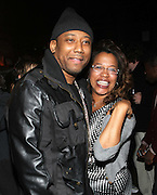 l to r: Maino and Danyel Smith at The Vibe Magazine private reception in honor of Grammy Award winning Superstar artist and actor, T.I held at The Eldrige on February 9, 2009 in New York City