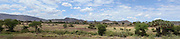 Kenya, Samburu National Park panoramic landscape as seen from the Simba lodge