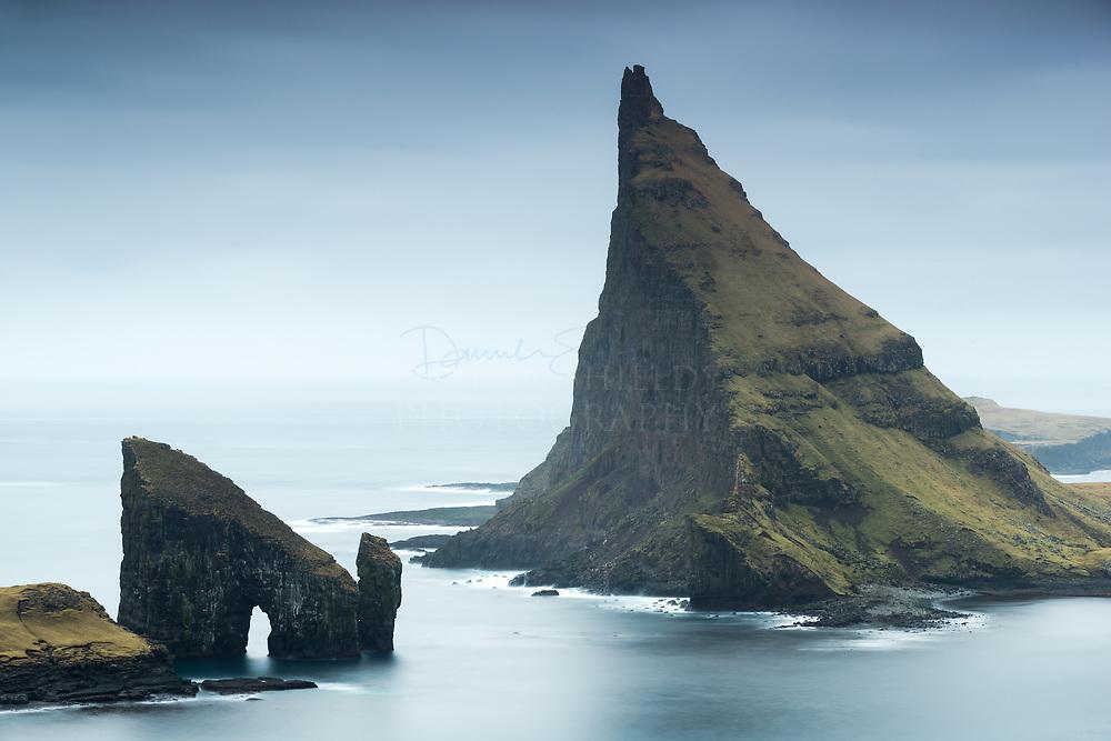 Lítli Drangur and Stóri Drangur, Sørvágsfjørður fjord, Vágoy