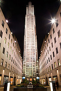 the General Electric Building located at the center of Rockafeller Center in Manhattan.