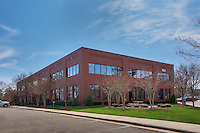Exterior image of Raleigh North Carolina office building by Jeffrey Sauers of Commercial Photographics, Architectural Photo Artistry in Washington DC, Virginia to Florida and PA to New England