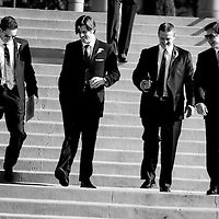 The groomsmen at a Seattle wedding.