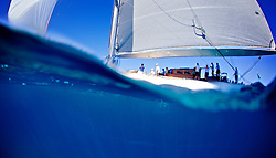 "Rolex maxi world championships 2013. J CLASS  ""Ranger"" sailing  in PortoCervo, Sardinia, Italy"
