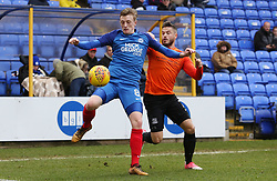 Chris Forrester of Peterborough United in action with Michael Kightly of Southend United - Mandatory by-line: Joe Dent/JMP - 03/02/2018 - FOOTBALL - ABAX Stadium - Peterborough, England - Peterborough United v Southend United - Sky Bet League One