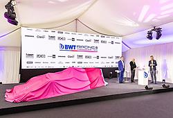 17.02.2020, BWT Headquarter, Mondsee, AUT, FIA, Formel 1, Racing Point Auto Präsentation, im Bild v.l. Otmar Szafnauer (Teamchef), Andreas Weissenbacher (BWT) // f.l. Otmar Szafnauer (Team Principal & CEO) Andreas Weissenbacher (BWT CEO) during the FIA formula 1 car presentation of Racing Point at the BWT Headquarter in Mondsee, Austria on 2020/02/17. EXPA Pictures © 2020, PhotoCredit: EXPA/ Johann Groder