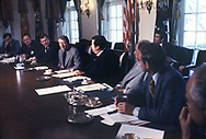 President Jimmy Carter meeting with Mid West governors in the Cabinet Room on January 31, 1978<br /> Photo by Dennis Brack