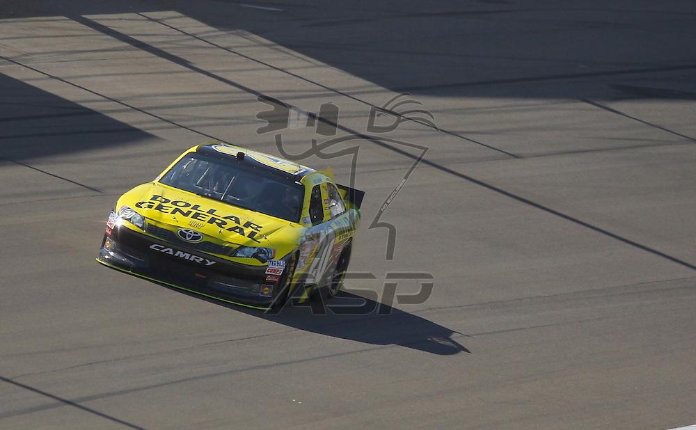 LAS VEGAS, NV - MAR 09, 2012:  Joey Logano (20) practices for the Kobalt Tools 400 race at the Las Vegas Motor Speedway in Las Vegas, NV.