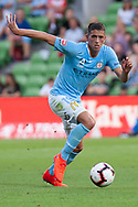 MELBOURNE, VIC - JANUARY 11: Melbourne City midfielder Lachlan Wales (19) runs the ball at the Hyundai A-League Round 13 soccer match between Melbourne City FC and Brisbane Roar FC at AAMI Park in VIC, Australia 11th January 2019. (Photo by Speed Media/Icon Sportswire)