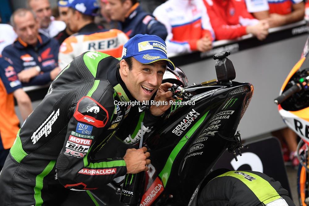June 24th 2017, TT Circuit, Assen, Netherlands; MotoGP Grand Prix TT Assen, Qualifying Day; Johann Zarco (Monster Yamaha Tech3) at parc ferme takes pole