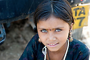 Beautiful girl from the Thar desert in Rajasthan (India)