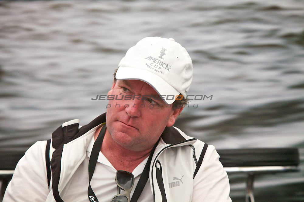 AC World Series,Cascais,Portugal.Americas Cup Principal Race Officer John Craig..