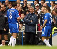 Photo: Scott Heavey, Digitalsport<br /> NORWAY ONLY<br /> <br /> Chelsea v Southampton. FA Barclaycard Premiership. 01/05/2004.<br /> A speechless tinkerman, Claudio Ranieri