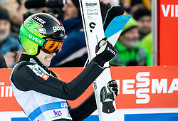 Ursa Bogataj of Slovenia reacts during 2nd Round at Day 1 of World Cup Ski Jumping Ladies Ljubno 2019, on February 8, 2019 in Ljubno ob Savinji, Slovenia. Photo by Matic Ritonja / Sportida