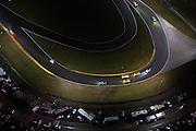 January 26-29, 2017: Rolex Daytona 24. Daytona International Speedway at night during the 55th running of the Rolex 24. 4 Corvette Racing, Corvette C7.R, Oliver Gavin, Tommy Milner, Marcel Fassler,  3 Corvette Racing, Corvette C7.R, Antonio Garcia, Jan Magnussen, Mike Rockenfeller, 19 BMW Team RLL, BMW M6, Bill Auberlen, Alexander Sims, Augusto Farfus, Bruno Spengler,  5 Mustang Sampling Racing, DPi, Joao Barbosa, Filipe Albuquerque, Christian Fittipaldi, 46 EBIMOTORS, Lamborghini Huracan GT3, Emanuele Busnelli, Fabio Babini, Emmanuel Collard, Francois Perrodo, , BMW art car