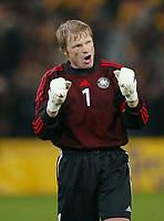 Fotball<br /> EM-kvalifisering<br /> 10.09.2003<br /> Tyskland v Skottland<br /> NORWAY ONLY<br /> Foto: Digitalsport<br /> <br /> Oliver Kahn