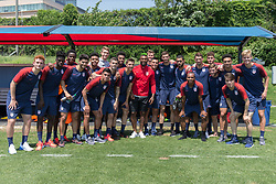 May 25, 2018 - Philadelphia, PA, USA - Philadelphia, PA - May 25, 2018: The USMNT trains at Rhodes Soccer Stadium before an international friendly against Bolivia. (Credit Image: © John Dorton/ISIPhotos via ZUMA Wire)