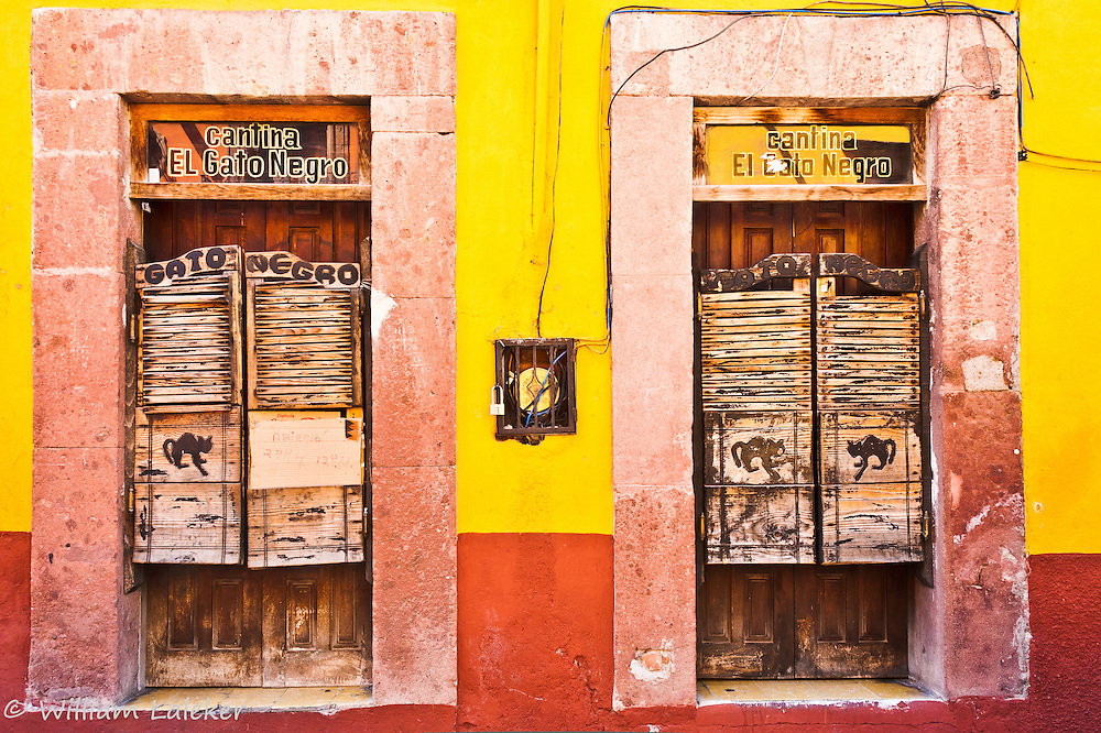 The Black Cat Saloon in San Miguel de Allende.