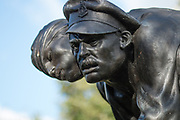 The Royal Army Medical Corps Memorial at the National Memorial Arboretum, Croxall Road, Alrewas, Burton-On-Trent,  Staffordshire, on 29 October 2018. Picture by Mick Haynes.
