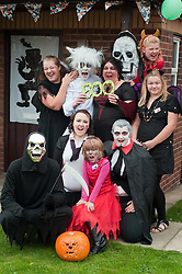 Guinness Northern Counties Housing Associations Godley Street  Scheme Hold a Halloween Street Party 42 Godley Street the Cruickshank Family..30 October 2010 .Images © Paul David Drabble