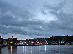 UK SCOTLAND OBAN 6OCT13 - Big skies over the town and fishing port of Oban, Argyll, Scotland.<br /> <br /> jre/Photo by Jiri Rezac<br /> <br /> &copy; Jiri Rezac 2013