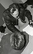 Keith Allen & Bernard Sumner, recording 'World In Motion' The Mill studios, Buckinghamshire, 1990