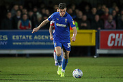 AFC Wimbledon midfielder Callum Reilly (33) about to shoot during the EFL Sky Bet League 1 match between AFC Wimbledon and Doncaster Rovers at the Cherry Red Records Stadium, Kingston, England on 14 December 2019.