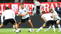 02.06.2011, Ernst Happel Stadion, Wien, AUT, UEFA EURO 2012, Qualifikation, Abschlusstraining Deutschland (GER), im Bild Mats Hummels, (GER), Mario Gomez, (GER), Mario Götze, (GER) und Marcel Schmelzer, (GER) // during the final training from Germany for the UEFA Euro 2012 Qualifier Game, Austria vs Germany, at Ernst Happel Stadium, Vienna, 2010-06-02, EXPA Pictures © 2011, PhotoCredit: EXPA/ T. Haumer
