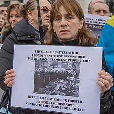 23 Feb. 2014 - Ukrainians protest at Downing Street for sanctions and an asset freeze.