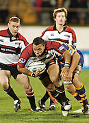Harbour centre (C) Anthony Tuitavake breaks free during the Air New Zealand Cup week 3 rugby union match between Bay of Plenty and North Harbour at Blue Chip Stadium in Mt Maunganui, New Zealand on Saturday 12 August 2006. Photo: Andy Song/PHOTOSPORT