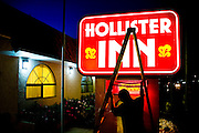 Hollister, a nondescript, rural town 40 miles east of the Pacific Ocean, is nothing like the Southern California beach town mythologized in Abercrombie's Hollister clothing brand, sold in 500 stores nationwide.