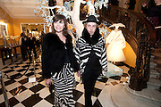JESSICA MORRIS; JAMES BROWN, Unveiling of the Dior Christmas Tree by John Galliano at Claridge's. London. 1 December 2009