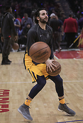 November 30, 2017 - Los Angeles, California, United States of America - Ricky Rubio #3 of the Utah Jazz during warm ups in their game with the Los Angeles Clippers on Thursday November 30, 2017 at the Staples Center in Los Angeles, California. Clippers lose to Jazz, 126-107. JAVIER ROJAS/PI (Credit Image: © Prensa Internacional via ZUMA Wire)
