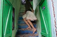 Sabnam loves to wear a petticoat. Varanasi, India.