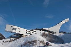 04-02-2011 SKIEN:  FIS ALPINE WORLD CHAMPIONSSHIP: GARMISCH PARTENKIRCHEN<br /> A general view of the ski jump that is parralell to the slalom course<br /> **NETHERLANDS ONLY**<br /> ©2011-WWW.FOTOHOOGENDOORN.NL/NPH-Mitchell Gunn