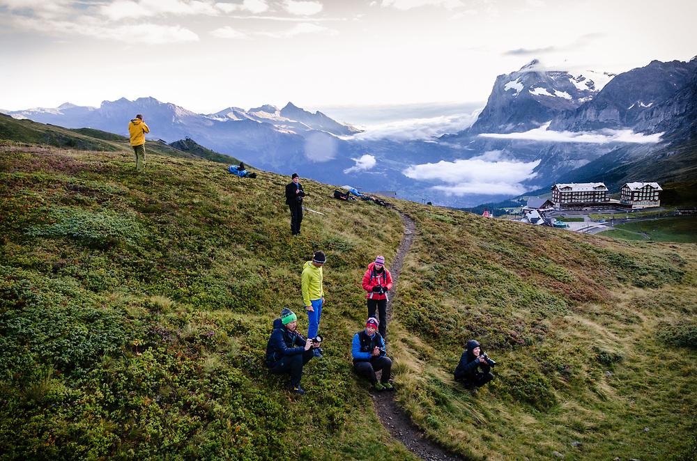 At Kleine Scheidegg, Switzerland