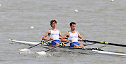 Reading, GREAT BRITIAN, GBR LM2X left Zac PURCHASE and Mark HUNTER, British Olympic Association, BOA, 2008 Beijing Olympic Rowing Team Announcement for 2008 Beijing Olympic Games, CHINA. .Redgrave and  Pinsent Rowing Lake, Caversham Training Centre, on Thursday, 26/06/2008. [Mandatory Credit:  Peter SPURRIER / Intersport Images] Rowing course: GB Rowing Training Complex, Redgrave Pinsent Lake, Caversham, Reading