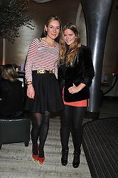 Left to right, ALICE KING and KATIE READMAN at the Matthew Williamson London Fashion Week Autumn/Winter 2012 After Party held at Nobu Berkeley, London on 19th February 2012.