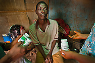 AIDS patient being treated at St Gerald Hospital in Kaduna, Nigeria. Kaduna is an area with a high AIDS rate.