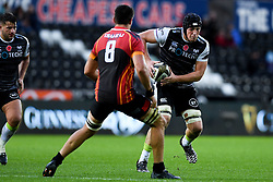 Lloyd Ashley of Ospreys is marked by Elrigh Louw of Southern Kings <br />  - Ryan Hiscott/JMP - 08/11/19 - SPORT - Liberty Stadium - Swansea, Wales -