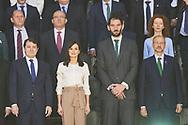 Queen Letizia of Spain attends 'Spanish Queen's Cup' Basket Final match between Perfumerias Avenida (winner) and Uni Girona at Pabellon Multiusos Sanchez Paraiso on March 8, 2020 in Salamanca, Spain