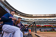 Justin Morneau #33 of the Minnesota Twins gets ready to take the field before a game against the Miami Marlins in Game 2 of a split doubleheader on April 23, 2013 at Target Field in Minneapolis, Minnesota.  The Marlins defeated the Twins 8 to 5.  Photo: Ben Krause