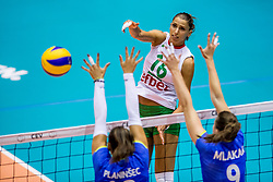 22-08-2017 NED: World Qualifications Slovenia - Bulgaria, Rotterdam<br /> Bulgaria win 3-1 against Slovenia / Elitsa Vasileva #16 of Bulgaria