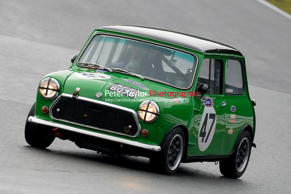 #47 Mark Heynen Morris Mini 1293 during the CSCC Adams and Page Swinging Sixties at Oulton Park, Little Budworth, Cheshire, United Kingdom. October 15 2016. World Copyright Peter Taylor/PSP. <br /> Copy of publication required for printed pictures.  Every used picture is fee-liable. http://archive.petertaylor-photographic.co.uk