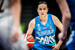 Nika Baric of Slovenia during basketball match between Women National teams of Belgium and Slovenia in the Qualification for the Quarter-Finals of Women's Eurobasket 2019, on July 2, 2019 in Belgrade Arena, Belgrade, Serbia. Photo by Vid Ponikvar / Sportida